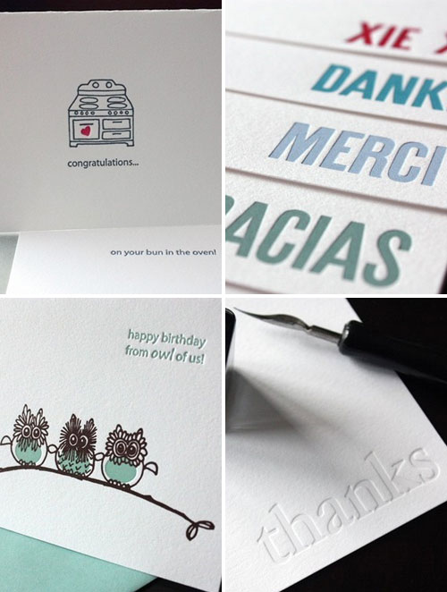 Letterpress Greeting Cards Penelope's Press