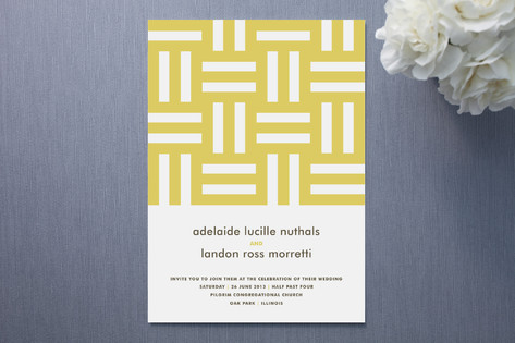 Float Paperie Weave Wedding Invitations