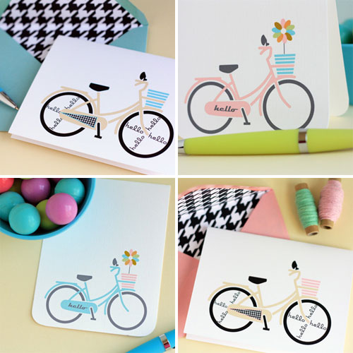 Retro Bicycle Note Cards