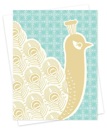 Peacock Letterpress Cards