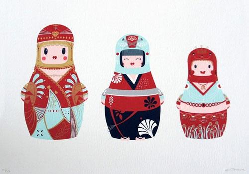 Matrioshka Dolls Print
