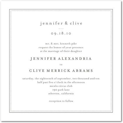 Pure Style Wedding Invitations