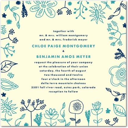 Spring Doodles Wedding Invitation