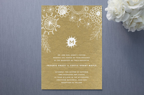Knobbly Blooms Wedding Invitations