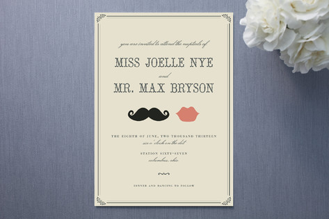 Mustache Wedding Invitations