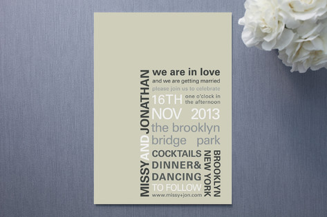 My Type Wedding Invitations