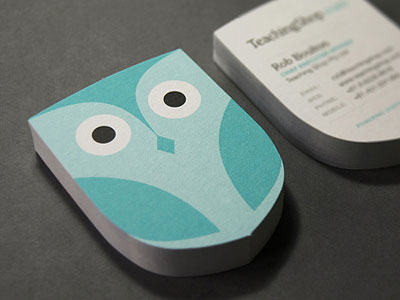 Die Cut Owl Business Card