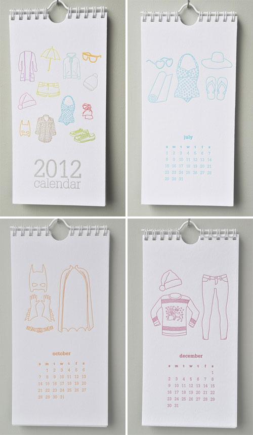 2012 Letterpress Calendar