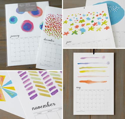 Watercolor Illustration Calendar