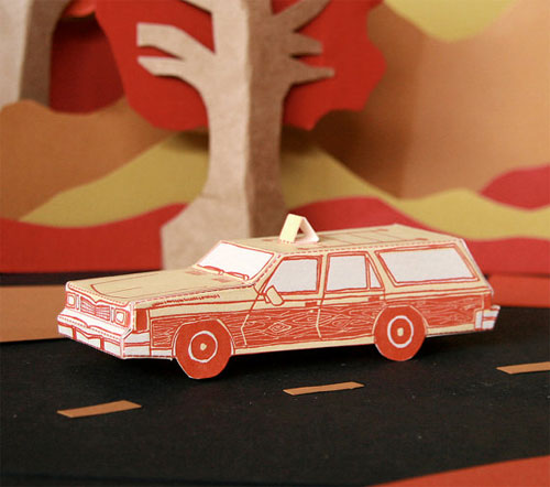 Station Wagon Camper 3d Paper Toy Station Wagon