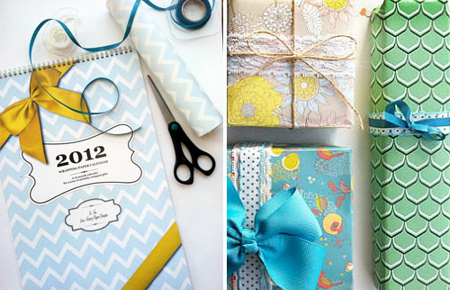 Wrapping Paper Calendar