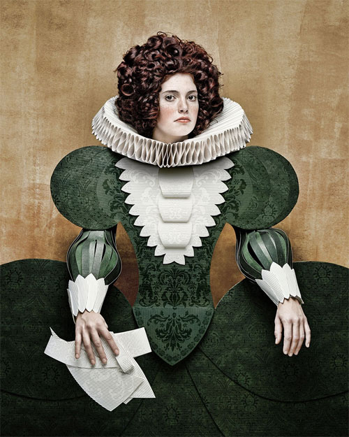Cardboard Ladies Paper Art by Christian Tagliavini