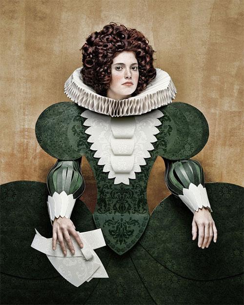 Cardboard Ladies Paper Art by Christian Tagliavini