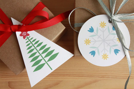 Blooming Holiday Gift Tags