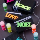 Neon Glitter Gift Tags