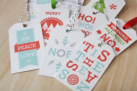 Sass Peril Holiday Gift Tags