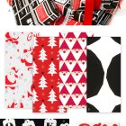 Red White and Black Gift Wrap