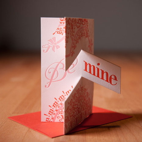Igloo Letterpress Valentine Pop Up