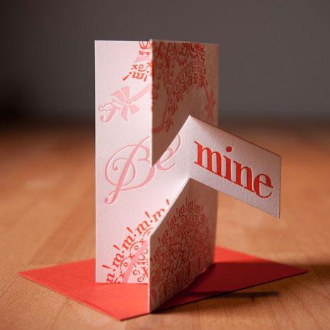 Igloo Letterpress Valentine Pop Up