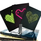 Geeky Neon Heart Cards