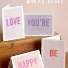 Free Printable Mini Valentines