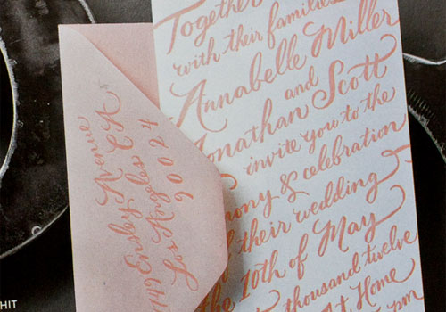 Molly Jacques Calligraphy Wedding Invitation