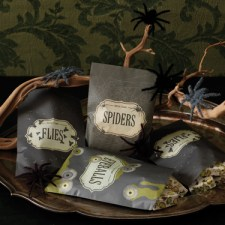 Martha Stewart Crafts Haunted Wax Treat Bags
