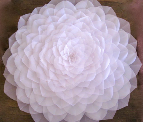 Diaphanous Paper Flower