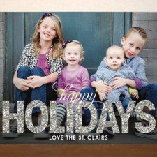 Glitter Holiday Photo Card