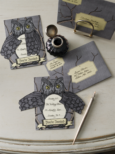 Martha Stewart Crafts Halloween Owl Invitations