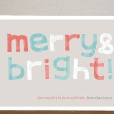 Merry & Bright Business Holiday Cards