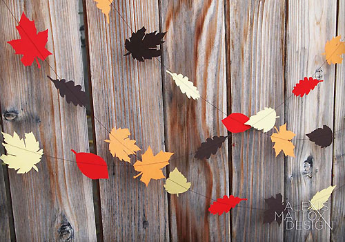 Laser Cut Leaf Garland