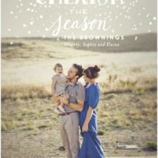 Snowy Air Holiday Photo Cards
