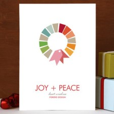 Swatch Wreath Business Holiday Cards