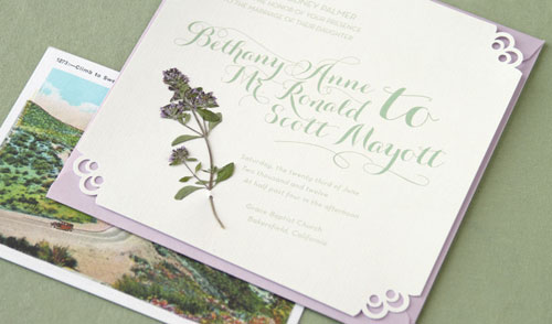 Romantic Thyme Wedding Invitations