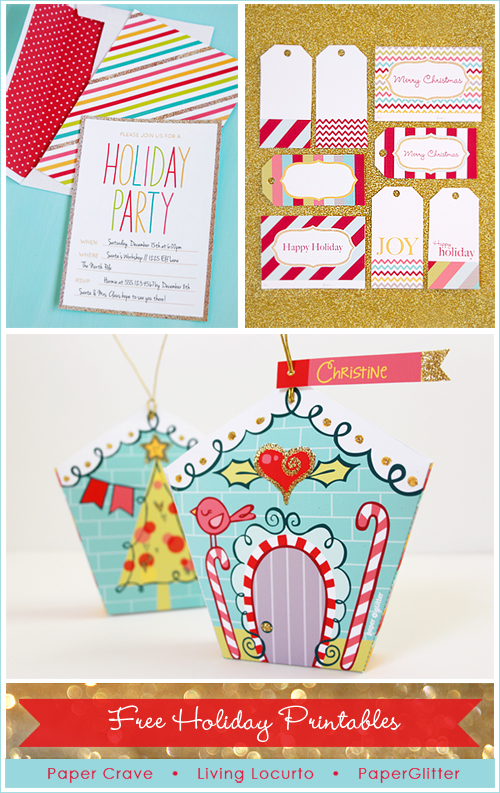 Holiday gift exchange freebies paper crave