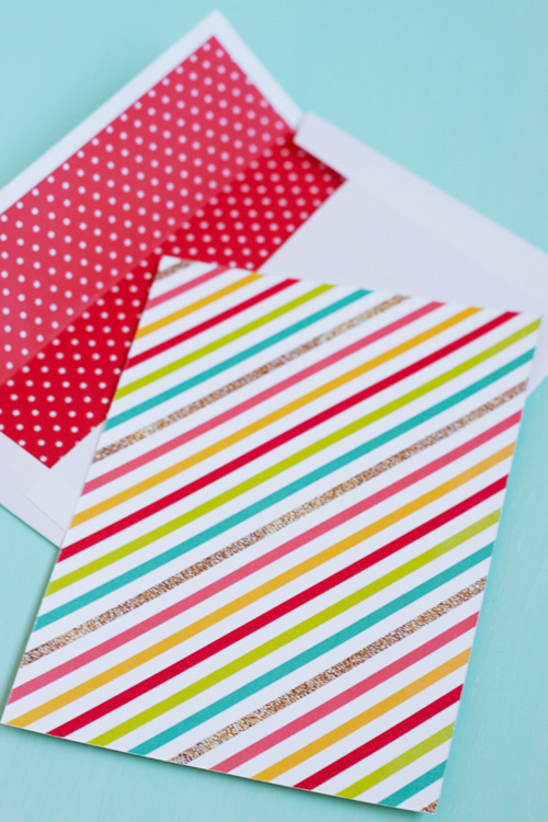 Free Printable Patterned Backer and Envelope