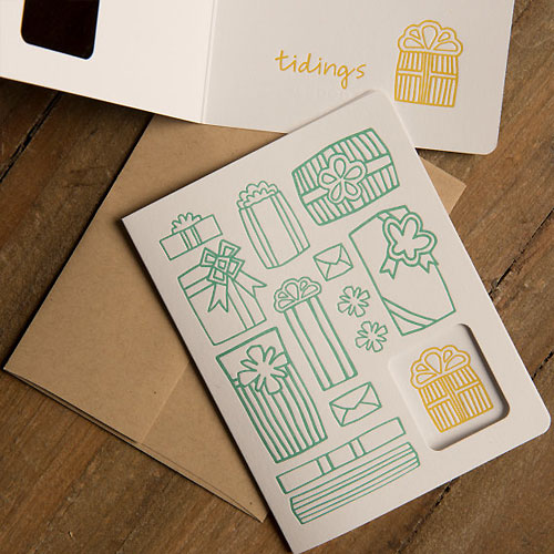 Holiday Gifts Letterpress Card