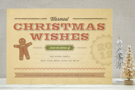 Retro Recipe Holiday Cards