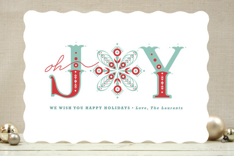 Snowflake of Joy Holiday Cards