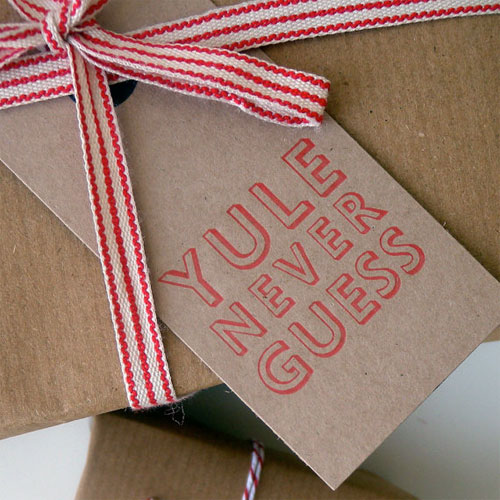 Letterpress Kraft Gift Tags by Bobalong Press