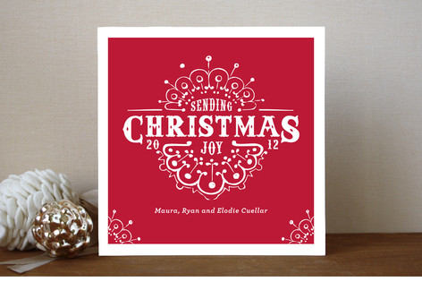 White Christmas Holiday Cards