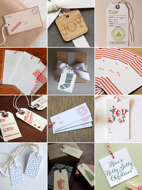 A Collection of Holiday Gift Tags 1