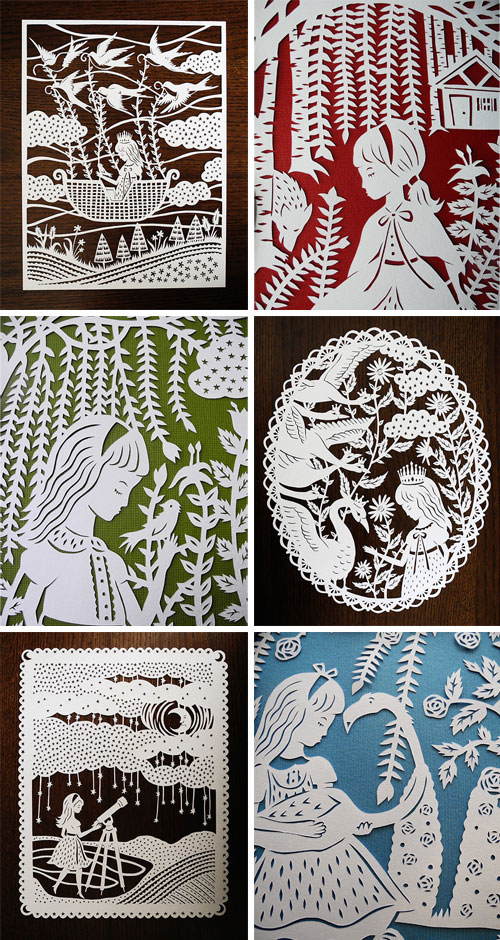 Sarah Trumbauer Hand Cut Papercuts