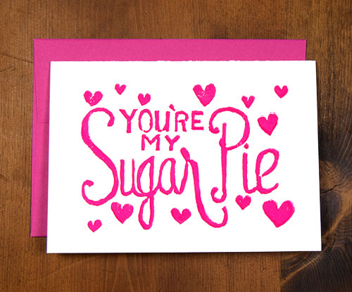 Sugar Pie Block Printed Card