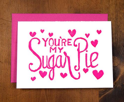 Sugar Pie Block Printed Card
