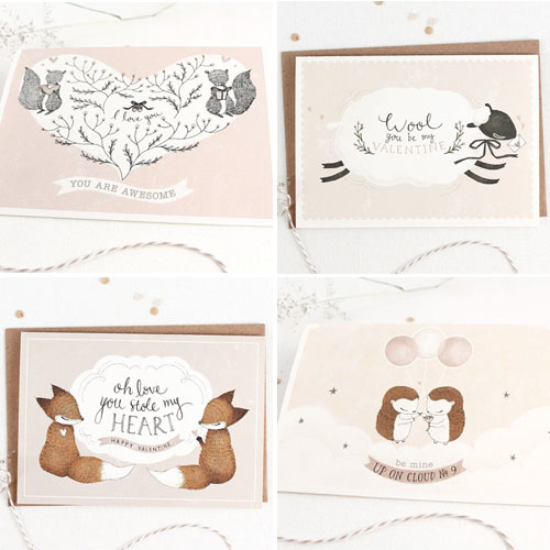 Whimsy Whimsical Valentine's Day Cards