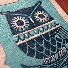 Winter Owl Letterpress Postcard