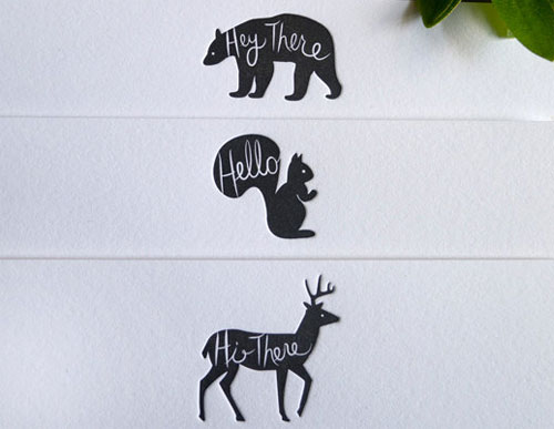Woodland Animal Hello Notes