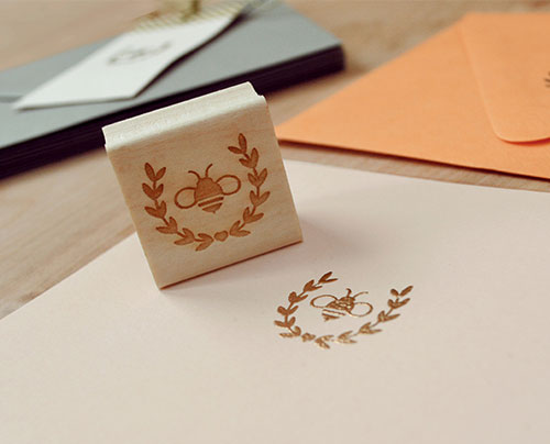 Honey Bee Rubber Stamps | Lush Prints